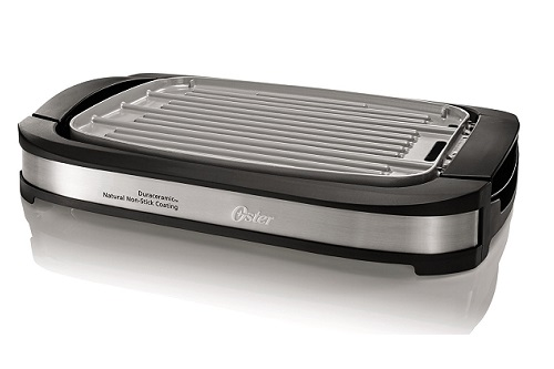 The Oster CKSTGR3007-ECO DuraCeramic Reversible Grill And Griddle