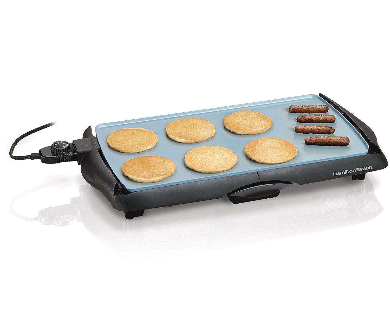 Hamilton Beach 38518 Durathon Ceramic Griddle, Black