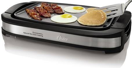Oster-CKSTGR3007-ECO-DuraCeramic-Reversible-Grill-and-Griddle-pancakes-topelectricgriddles.com