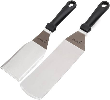 25-Best-Spatula-for-Burgers-Anmarko-Metal-Stainless-Steel-Set
