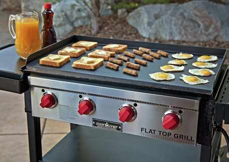 Best-Outdoor-Griddle-Grill-Camp-Chef-Flat-Top-Grill-in-use