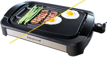 Magicook-Electric-Reversible-Flat-Top-Grill-For-Home-Kitchen-food