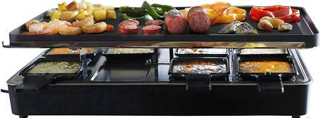 Milliard-Raclette-Electric-Flat-Top-Griddle-Grill-food